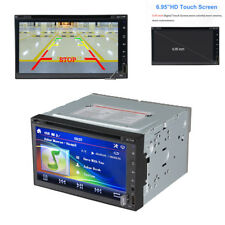 """6.95"""" 2 Din Car Radio DVD Player GPS Navigation Built-in map of North America"""