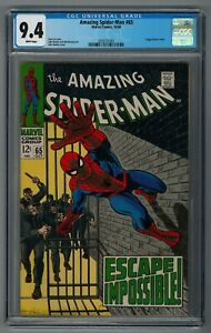 AMAZING SPIDER-MAN #65 CGC 9.4 NM - WHITE PAGES  - FOGGY CAMEO - NICE HIGH GRADE