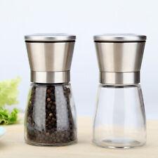 Glass Salt Amp Pepper Hand Mills For Sale Ebay