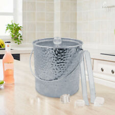 3L Ice Bucket Insulated Stainless Iron Double Walled Ice Container with Lid Tong