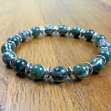 Bracelet Homme femme Jaspe Zèbre - Perles du Tibet -  Lithothérapie