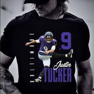 Awesome Justin Tucker 9 Baltimore Ravens shirt Funny Black Cotton Tee Gift Men