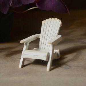 Mini White Patio Adirondack Chair  TO 4953 Miniature Fairy Garden