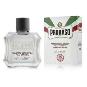 PRORASO Aftershave BALM | SENSITIVE Skin Oatmeal and Green Tea | 100ml White