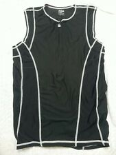 New listing DeSoto Triathlon 1/2 Zip Black Pocketed Sleeveless Tank Top Size XL