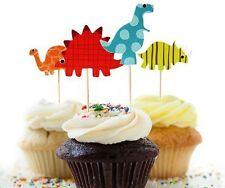 24 pcs Cupcake Cup Cake Decorating,Toppers PARTY DECORATION , Dinosaur