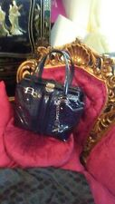 "Gucci $1495 Blue ""Horsebit"" Patent Leather ""Boston Treasure"" Bag"