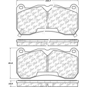Disc Brake Pad Set-Shelby GT500 Front Centric 104.16660 fits 2013 Ford Mustang