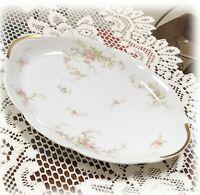 Haviland Limoges SCH318-7 OVAL PLATTER 14 Inch Scalloped Pink Roses Scroll 1903