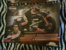 Eddie Krawiec Pro Stock Bike Motorcycle Signed Poster Nhra 2014