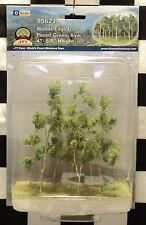 "JTT SCENERY 95621 WOODS EDGE TREES - PASTEL GREEN  4"" - 5 1/2""  O-SCALE  8/PK"