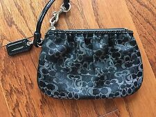 "New Coach wallet/ wristlet, Black, ""C"" signature fabric"