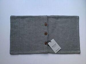 West Elm / Silk Handloomed Pillow Cover 12x21 Platinum (1 Pillow Cover) NEW