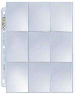 (100) Ultra Pro PLATINUM 9 POCKET Album Pages for Pokemon Sports MTG Cards