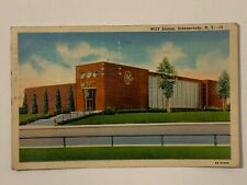 Vtg 40s WGY Radio Station Linen Postcard Schenectady New York General Electric