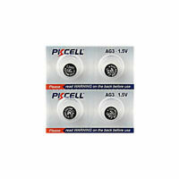 4 Piles Bouton Pkcell AG3, LR41, 192, 384, 392, 392A, SR41, L736 - Pile 1,5V