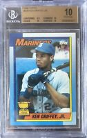 1990 topps ken griffey jr BGS 10 PRISTINE  #336 Seattle Mariners Low Pop 1/1?💎