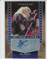 DEE SNIDER 2008 Upper Deck SPECTRUM AUTO Autograph TWISTED SISTER!