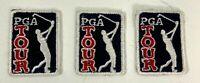 3 PGA TOUR GOLF GOLFING CREST EMBLEM PATCH LOT OF 3