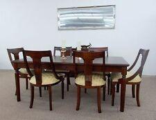 Vanessa Dining Speisegarnitur Esszimmer Tisch 200 cm + 6 Stühle massiv Mahagoni