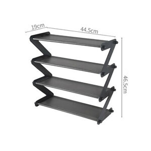 Stainless Steel Shoes Organizer Rack Shoe Storage  Display Shelf Space Saver