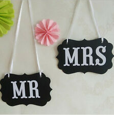 New Couple Chair Mr & Mrs Signs Photo Props Banner Wedding Party Decoration