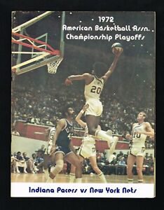 1972 Indiana Pacers vs New York Nets ABA Basketball Championship Finals Program