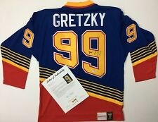 WAYNE GRETZKY ST. LOUIS BLUES SIGNED MITCHELL & NESS AUTHENTIC JERSEY OILERS JSA