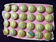 Vintage Fire Department Buttons New Old Stock Lot of 24