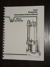 Winona Van Norman 944-S Boring Bar Instr & Parts Manual