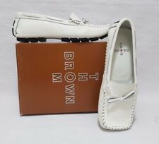 Tom Brown Moccasin Womens White Leather Moccasin Size EU 38