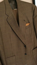 """Cravats Bespoke""A Sporting 3 Piece Cognac Shadow Window Pane 43R Lux 100% Wool"