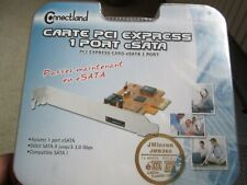 Connectland Carte PCI Express 1 Port eSATA Karte-Neu/Verpackt