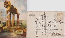 AGRIGENTO: Tempio dei Dioscuri   1941 - dis. Frattini