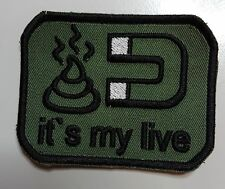 PATCH AUFNÄHER FUN SOFTAIR IT`S MY LIFE MIT KLETT SCHWARZ