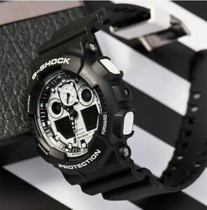 NEW G-Shock Black Resin Strap Chronograph Men's Watch GA100BW-1A