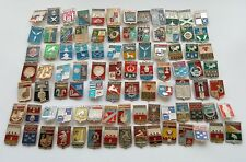 Lot of 90 Pins Badges Collection of Сities Emblem Soviet Union USSR