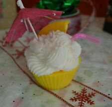 Pina Colada Daiquiri Cupcake Candle Soy wax. Dessert candles that looks Yummy