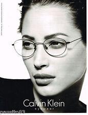 PUBLICITE ADVERTISING 065  1995  CALVIN KLEIN  lunettes  INES SASTRE
