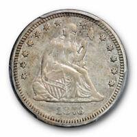 1876 CC 25C Seated Liberty Quarter PCGS XF 45 Extra Fine to AU Carson City