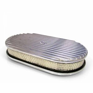 15 Aluminum Oval GM Finned Air Cleaner Filter fits edelbrock holly carburator V8