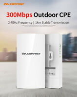 300Mbps Long Range WiFi Router Outdoor Access Point 2.4G CPE Bridge Wireless AP