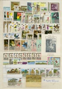 RWANDA (1350+60 M/S) VAST MNH ON STOCKPAGES WITH EXTENSIVE THEMATICS