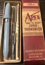 New listing Vtg Apex #305 by Faichney Medical Oral Fever Thermometer in Box