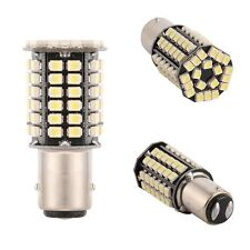 2 x White 1156 BA15S P21W 80-SMD LED Light Bulbs Tail Brake Stop Backup Reverse