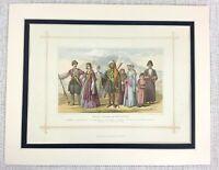 1882 Antico Stampa Tradizionale Georgiano Caucuses Armeno Abito Costume Moda