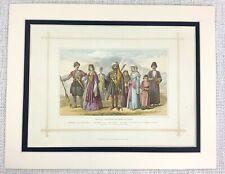 1882 Antique Print Traditional Georgian Caucuses Armenian Dress Costume Fashion