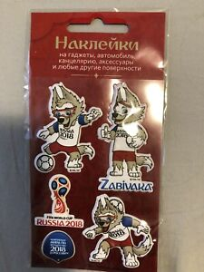 World Cup FIFA-2018 Russia Stickers gift football Zabivaka Wolf