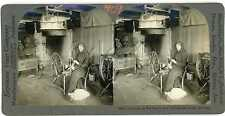Norway TELEMARKEN Two Women Carding & Spinning Wool Stereoview 13497 ve409c fx