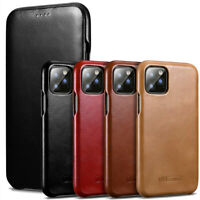 Original iCarer Retro Luxury Flip Real Leather Bumper Kickstand Back Cover Case